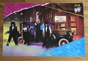 Vintage 1985 Motley Crue Poster Gangster Theatre of Pain Rare From Verkerke