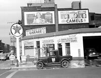 "1940 Gas Station, Benton Harbor, MI Vintage Photograph 8.5"" x 11"" Reprint"
