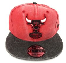 Chicago Bulls New Era NBA 9Fifty 950 Rugged Snapback Mens Red Fit Cap Hat
