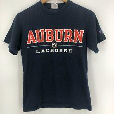 Champion T-Shirt Men's S Navy Blue Auburn University Tigers Lacrosse NCAA