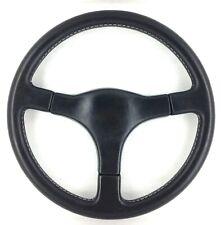 Genuine ATC Bertone 360mm black leather Italian steering wheel. Beautiful!    7C