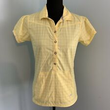 Helly Hansen Womens Yellow Popover Top Front Pouch Pocket Small