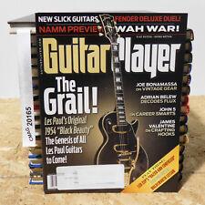 Les Paul 1954 Black Beauty Guitar Player Magazine Joe Bonamassa Adrian Belew '15