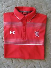 Under Armour Men's Golf/Casual Polo Shirt Size M Red & White EUC