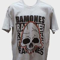 RAMONES PUNK ROCK T-SHIRT unisex grey S-3XL
