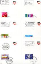 Suiza - 11 justificantes automoción-post oficina de 1987 (27591)