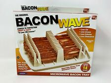 Bacon Wave Microwave Bacon Tray Cooks up to 14 Slices Crispy Tasty NEW