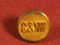 Chicago & North West C&NW Railway Railroad RR Uniform Button