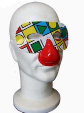 Lot de 6 Loups Clown à motifs variables couleurs mélangées F195 masque carnaval