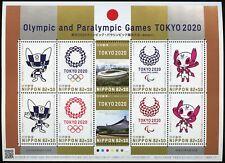 Japan 2019 Olympiade Tokio Maskottchen Olympische Spiele Stadien Postfrisch MNH