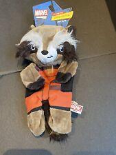 "Marvel Guardians of the Galaxy 9"" Rocket Raccoon Flattie Dog Toy  Crinkle Lining"