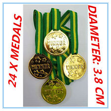 24X OLYMPIC Gold Medals Children Kids Plastic Winner Costume Party Toys-PARTY AP