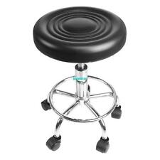 Black Round Stool Bar Chair Hydraulic Lift Salon Massage Furniture Beauty Tattoo