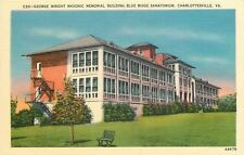 Charlottesville VA~Blue Ridge Sanatorium~Wright Masonic Memorial Sunrooms~1940s