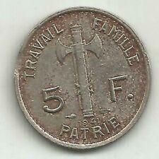 5 FRANCS PETAIN 1941 RARE