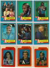 1987 The A-Team Complete Basic Card Set With Stickers