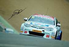 Jason PLATO Touring Car Champion SIGNED 12x8 Photo AFTAL Autograph COA