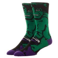 The Incredible Hulk 360 Crew Socks Marvel Comics Bioworld 1 Pair All Around