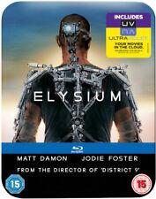 Elysium Matt Damon - Zavvi Limited Edition Steelbook, Region Free, NEW
