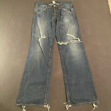 Vintage True Religion Jeans Made In USA Rare Button Fly Size 36x36 Distressed