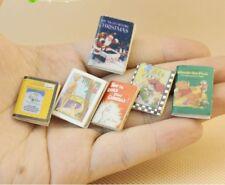 Dollhouse Miniature 1:12 Model Story Comic Books Set Library Decor Accessory 6pc