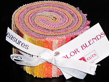 """QT Cuts Color Blends Warm Palette Shades Jelly Roll Fabric 30 Strips 2.5""""W X 44"""""""