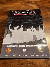 MANCHESTER UNITED V WIGAN 2006 CARLING CUP FINAL PROGRAMME FREE POSTAGE LOOK