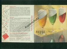 Altes Rezept-Faltblatt Reese Rezepte 1956 Zeichnungen Kuchen Süßes Hameln