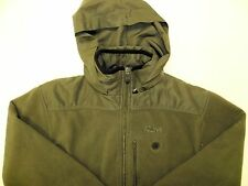 Reebok Fleece Jacket Green Black Hooded Hoodie Full Zip Up Woman's Size M RBK Z1