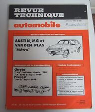 Revue technique automobile RTA 428 Austin MG& vanden plas métro