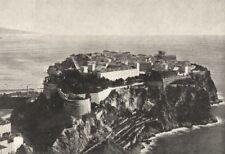 MONACO. Générale 1895 old antique vintage print picture