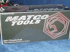 """ERTL/MATCO TOOLS """"AUTHENTICS"""" 1964 FORD THUNDERBOLT 427 RACING CAR 1/18 RED"""
