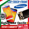 DISPLAY LCD+TOUCH SCREEN+FRAME PER SAMSUNG GALAXY NOTE 3 SM-N9005 SCHERMO VETRO!