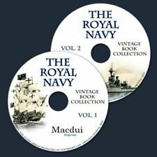 The Royal Navy Vintage Books Collection 210 PDF E-books on 2 Dvd's Ships Medals