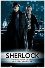 2013 BBC TV SERIES SHERLOCK HEROES DON'T EXIST POSTER 24x36 NEW FREE SHIP