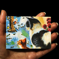 original miniature painting ACEO art picture animals watercolor drawing cats