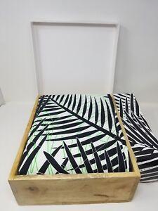 Brooklyn Born Organic Quilt - Palm Beach, Black/Green, One Size
