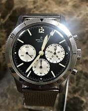 VINTAGE BREITLING  PILOT CHRONOGRAPH WATCH REF. 765 AVI ca. 1965 UNPOLISHED