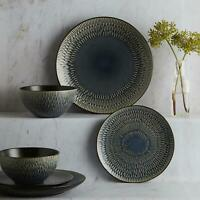BEAUTIFUL Zen Reactive Glaze 12 Piece Dinner Set Plates Bowls Kitchen Dinnerware