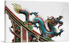 ARTCANVAS Asian Chinese Festival Long Blue Dragon Canvas Art Print
