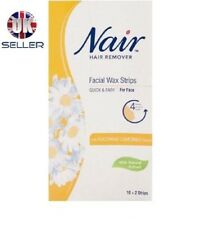 Nair Hair Removal Facial Wax Strips x 12 with Camomile Extract