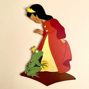"""🚬 Laubsägearbeit """"Weihnachten 1960"""" Mertens-Kunst 21cm Tiara Prinzessin Figur"""