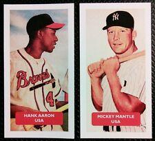 BASEBALL: Hank Aaron, MICKEY Mantello del gruppo 2 punteggio l'UK Trade CARDS