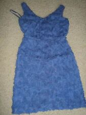 CYNTHIA STEFFE BLUE  ROSETTE EMBELLISHED CLASSY LITTLE PROM DRESS O NWT $248