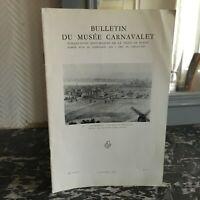 Bulletin du Musée CARNAVALET Novembre 1962