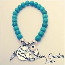 Turquoise Evil Eye Guardian Angel For Happiness Angel Wing Bracelet