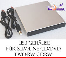 EXTERNES SLIM LINE GEHÄUSE USB 2.0 F. CD/DVD CD-RW DVDRW HDD DATEN&STROMKABEL MM