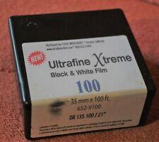 Ultrafine Xtreme ISO 100 Black & White Negative Film; 35mm 100' roll.