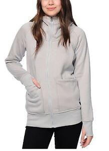 NWT WOMENS BURTON JOURNEY TECH FLEECE JACKET $85 Highrise heather hoodie