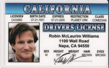 Robin Williams Novelty Drivers License fake i.d. card